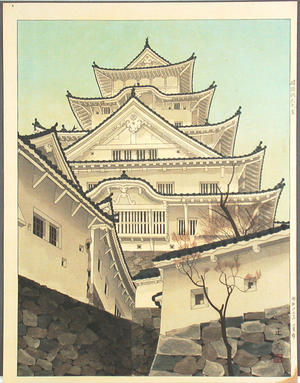 Mori Masamoto: Himeji Castle- large - Japanese Art Open Database