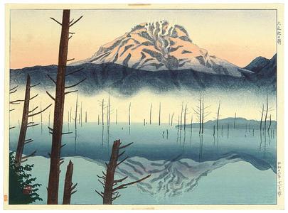 Mori Masamoto: Lake Taisho in the Morning - Japanese Art Open Database