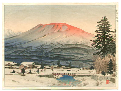 Mori Masamoto: Mt Asama - Japanese Art Open Database