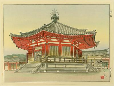 Mori Masamoto: Pavilion of Dream - Yumedono Temple - Japanese Art Open Database