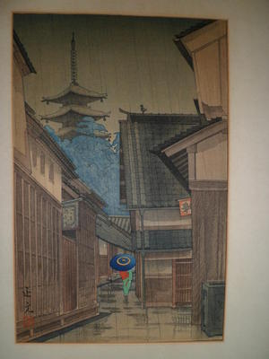 Mori Masamoto: A Town in Nara — 奈良の町 - Japanese Art Open Database