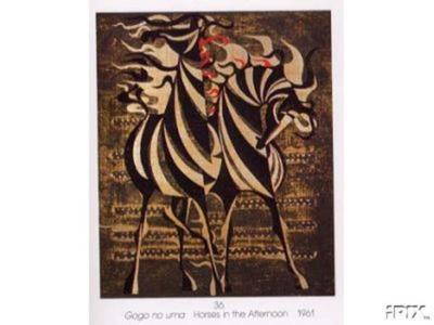 Nakayama Tadashi: Horses in the Afternoon - Japanese Art Open Database