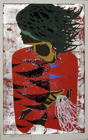 Nakayama Tadashi: Red Coat - Japanese Art Open Database