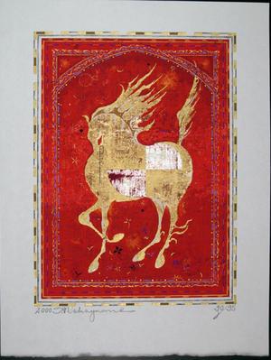 Nakayama Tadashi: Red Horse - Japanese Art Open Database