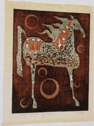 Nakayama Tadashi: Unknown, horse 1 - Japanese Art Open Database