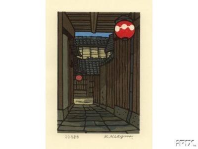 Nishijima Katsuyuki: Red Lanterns - Japanese Art Open Database