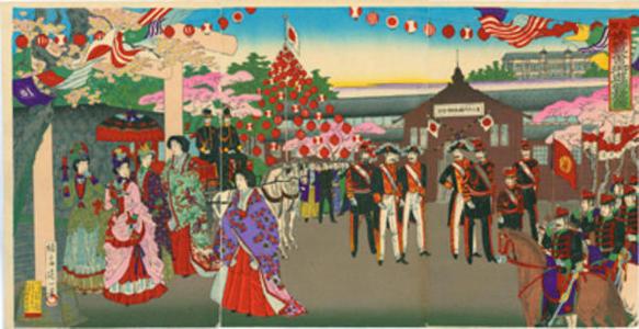 Watanabe Nobukazu: Emperor at Ueno - Japanese Art Open Database