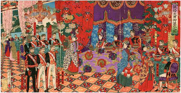 渡辺延一: Silver Anniversary of Emperor and Empress Meiji - Japanese Art Open Database