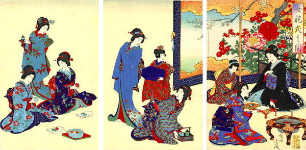渡辺延一: The Flower Screen - Japanese Art Open Database