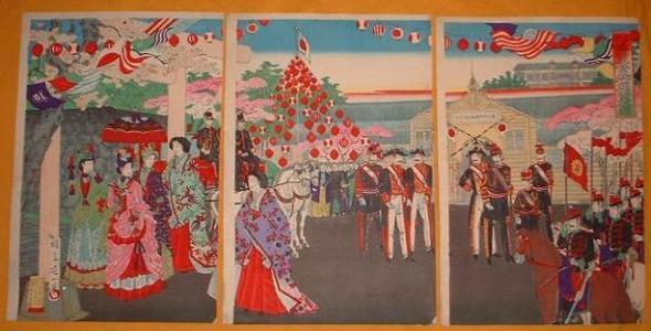 渡辺延一: Ueno Park Exhibition Sightseeing — 博覧会御遊覧 - Japanese Art Open Database