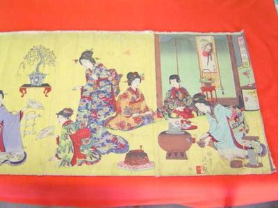 渡辺延一: Tea Ceremony and Drawing — 女禮式の図 - Japanese Art Open Database