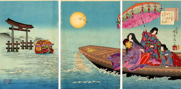 Watanabe Nobukazu: By Moonlight - Japanese Art Open Database