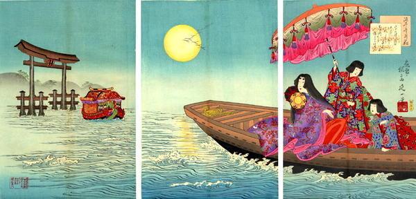 渡辺延一: By Moonlight - Japanese Art Open Database
