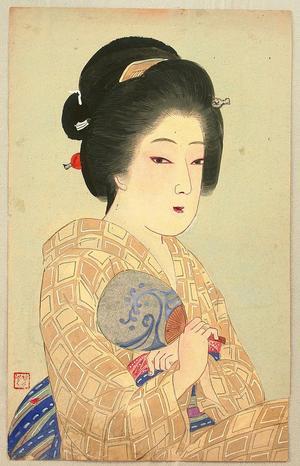 Nomura Yoshimitsu: Beauty with Fan - Japanese Art Open Database