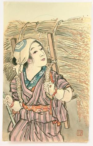 Nomura Yoshimitsu: Farm Girl - Japanese Art Open Database