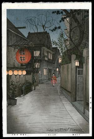 Nouet Noel: Kagurazaka at Ushigome - Japanese Art Open Database