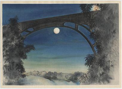 Obata Chiura: Full Moon, Pasadena, California - Japanese Art Open Database