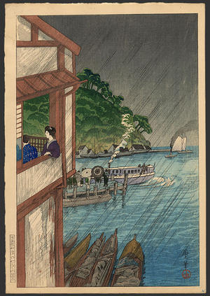 Oda Kazuma: Mihonoseki in Izumo - Japanese Art Open Database