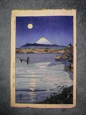 Okada Koichi: Unknown, moon over Mt Fuji - Japanese Art Open Database