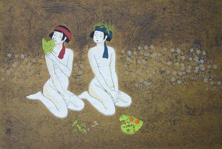 Okamoto Yoshimi: White Fox Fairies 2 - Japanese Art Open Database