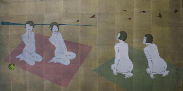 Okamoto Yoshimi: White Fox Lesson - Japanese Art Open Database