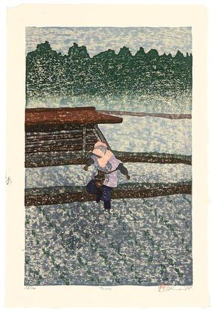 Rome Joshua: A Heron - Japanese Art Open Database