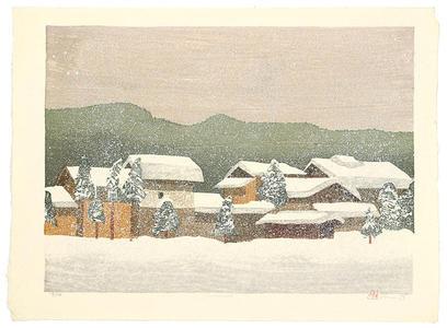 Rome Joshua: Snow Scape - Japanese Art Open Database