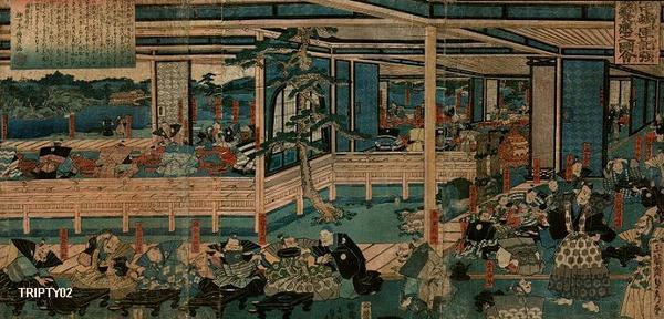 歌川貞秀: Banquet - Japanese Art Open Database