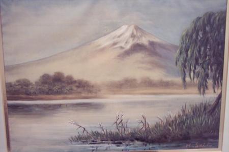 Saito Hodo: View of Lake and Mt Fuji - Japanese Art Open Database