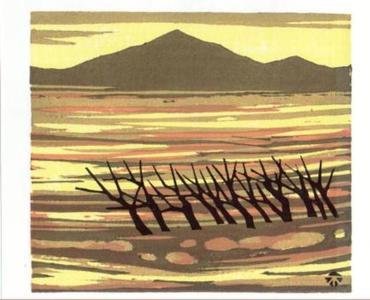 北岡文雄: Kikareru (withered trees) - Japanese Art Open Database