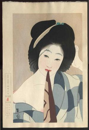 Seien Shima: July, after the bath — Shichigatsu Yuagari - Japanese Art Open Database