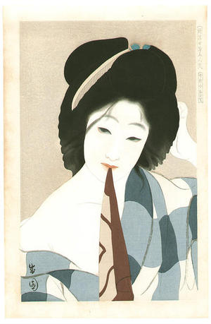 Seien Shima: July, after the bath — Shichigatsu Yuagari - Japanese Art Open Database