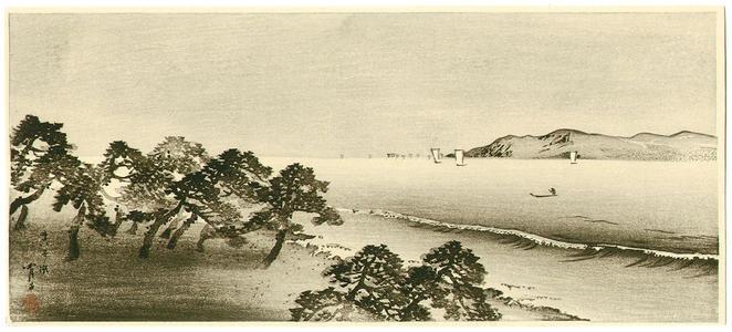 静湖: Maiko Beach - Japanese Art Open Database