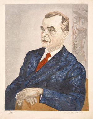 Sekino Junichiro: Portrait of Fritz Bilsinger - Japanese Art Open Database