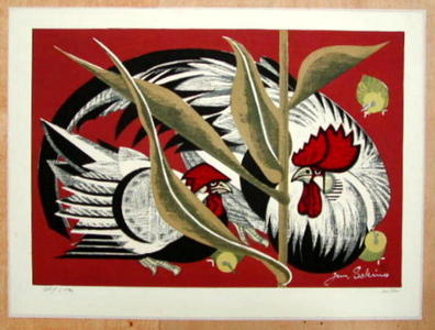 Sekino Junichiro: ROOSTERS - Japanese Art Open Database