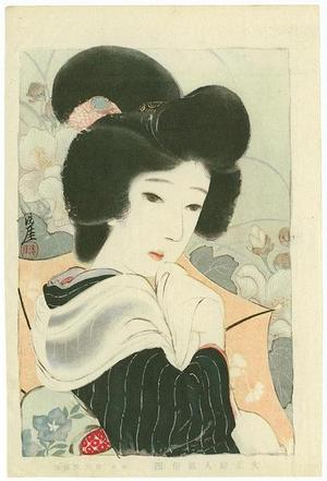 Sengai Igawa: 4- Bijin among flowers - Japanese Art Open Database