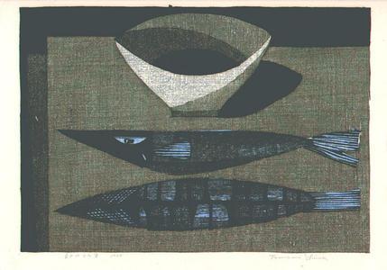 Shima Tamami — 島 珠実: Fish on the Table - Japanese Art Open Database
