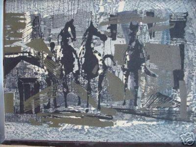 Shima Tamami — 島 珠実: Horses in a Field — 野の馬 - Japanese Art Open Database
