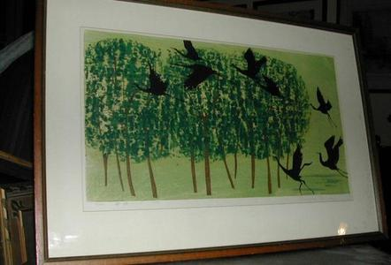 Shima Tamami — 島 珠実: Unknown- Fly in the Green Forest - Japanese Art Open Database