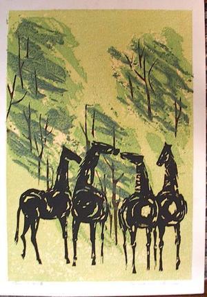 Shima Tamami — 島 珠実: Whispering Horses - Japanese Art Open Database
