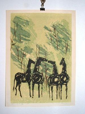 Shima Tamami — 島 珠実: Whispering Horses - Japanese Art Open Database