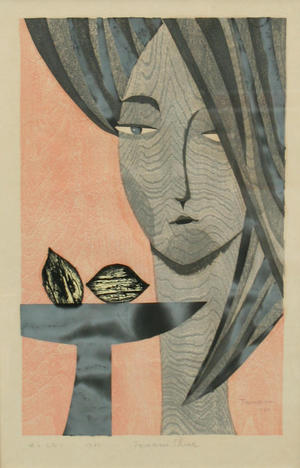 Shima Tamami — 島 珠実: Woman and Lemon — 女とレモン - Japanese Art Open Database