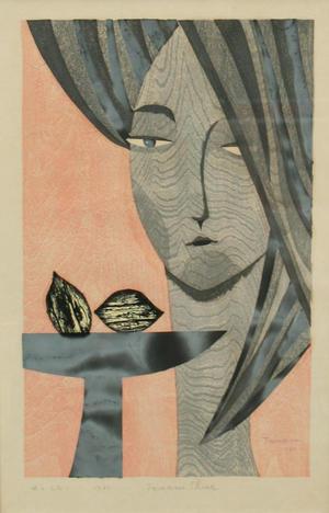 Shima Tamami — 島 珠実: Woman and Lemon — 女とレモン - Japanese Art Open Database