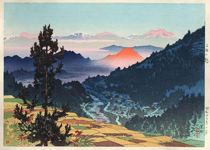 Ito Shinsui: Morning at Kanbayashi — 上林の朝 - Japanese Art Open Database
