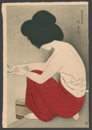 伊東深水: After the Bath - Japanese Art Open Database