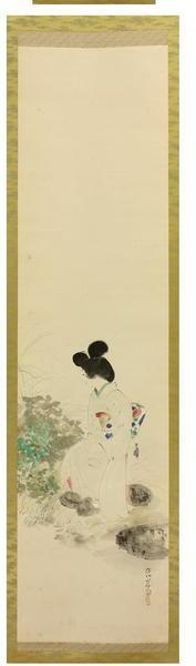 伊東深水: Autumn Garden — 秋庭 - Japanese Art Open Database