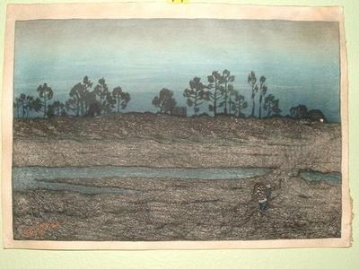 Ito Shinsui: Evening View By The Tama River - Japanese Art Open Database