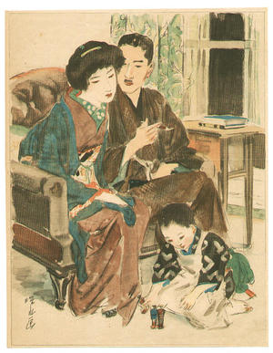 Ito Shinsui: Living Room - Japanese Art Open Database