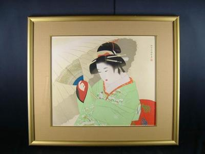 Ito Shinsui: Snow Storm- Lithograph — 吹雪 - Japanese Art Open Database