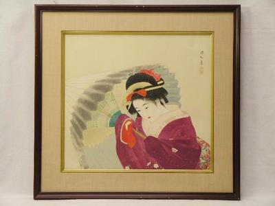 Ito Shinsui: Snow Storm- litho — 吹雪 - Japanese Art Open Database